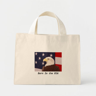 Eagle Born In the USA Mini Tote Bag