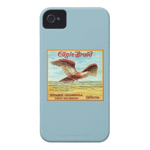 Eagle Brand Fruit Crate Label iPhone 4 Case-Mate Cases