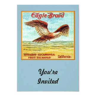 Eagle Brand Fruit Crate Label Personalized Announcements