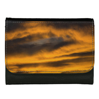 eagle burnout leather wallet for women
