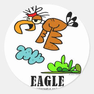 Eagle by Lorenzo © 2018 Lorenzo Traverso Classic Round Sticker