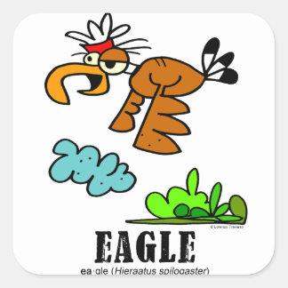 Eagle by Lorenzo © 2018 Lorenzo Traverso Square Sticker