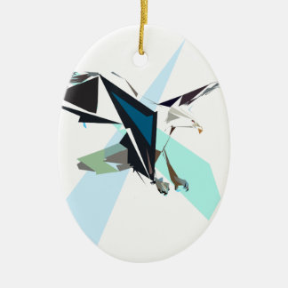eagle ceramic ornament