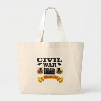 eagle civil war art large tote bag