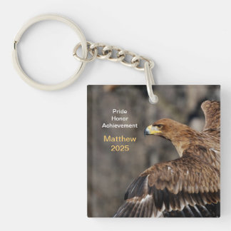 Eagle - Congratulations - Customizable - Keepsake Key Ring