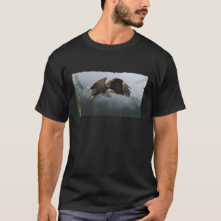EAGLE, CROW, TOTEM POLE & MISTY FOREST Gifts T-Shirt