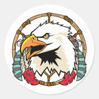 Eagle Dreamcatcher Classic Round Sticker