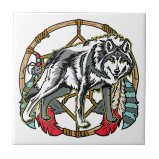 Eagle Dreamcatcher Small Square Tile