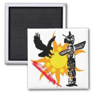 Eagle, Eagle Totem, & Feather design Magnet