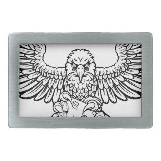 Eagle Esports Sports Gamer Mascot Rectangular Belt Buckle