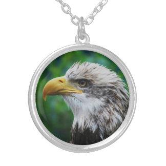 Eagle Eye Round Pendant Necklace