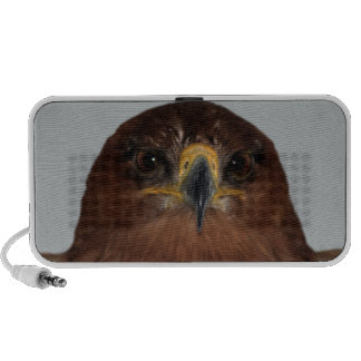 Eagle eyes and head travelling speakers