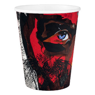 Eagle face paper cup