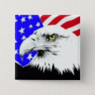 Eagle Flag 15 Cm Square Badge