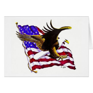 Eagle & Flag Card
