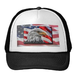Eagle flag hats