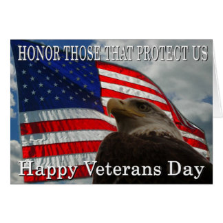 Eagle Flag veterans day Card