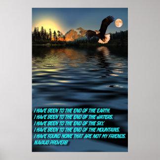 Eagle-Flight-29-Navajo-Proverb Poster
