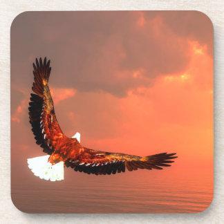 Eagle flying - 3D render Coaster