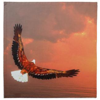 Eagle flying - 3D render Napkin