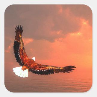 Eagle flying - 3D render Square Sticker