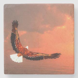 Eagle flying - 3D render Stone Coaster