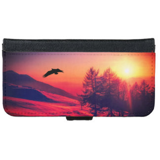 Eagle Flying in the Sunset iPhone 6 Wallet Case