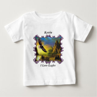 Eagle flying over the landscape. baby T-Shirt