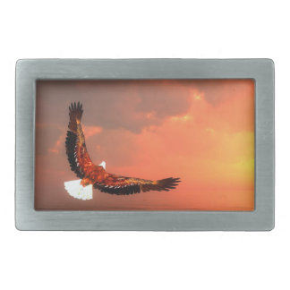Eagle flying to the sun - 3D render Belt Buckle