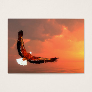 Eagle flying to the sun - 3D render Business Card