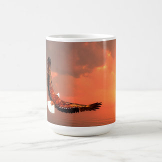 Eagle flying to the sun - 3D render Coffee Mug