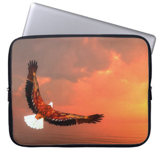 Eagle flying to the sun - 3D render Computer Sleeves
