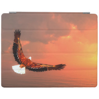 Eagle flying to the sun - 3D render iPad Cover
