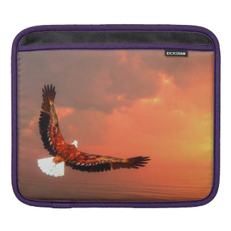 Eagle flying to the sun - 3D render iPad Sleeves