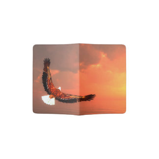 Eagle flying to the sun - 3D render Passport Holder