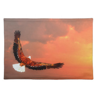 Eagle flying to the sun - 3D render Placemat