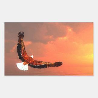Eagle flying to the sun - 3D render Rectangular Sticker