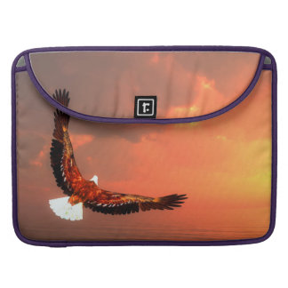 Eagle flying to the sun - 3D render Sleeve For MacBooks