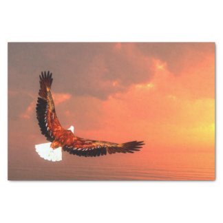 Eagle flying to the sun - 3D render Tissue Paper