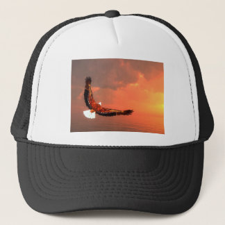 Eagle flying to the sun - 3D render Trucker Hat
