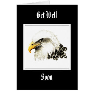 Eagle - Get Well Soon,  Funny Military Card
