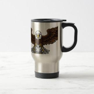 Eagle Golf Sports Mascot Travel Mug