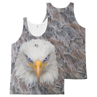 Eagle Head, Eagle With Electric Blue Eyes All-Over Print Tank Top