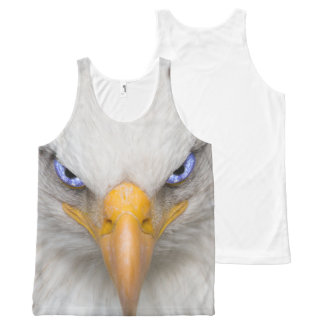 Eagle Head Image With Electric Blue Eyes All-Over Print Tank Top