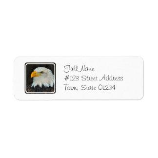 Eagle Head Return Address Mailing Label