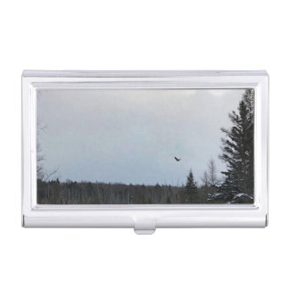 Eagle in Flight Landscape Card Case Holder