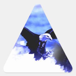 Eagle in Flight Triangle Sticker