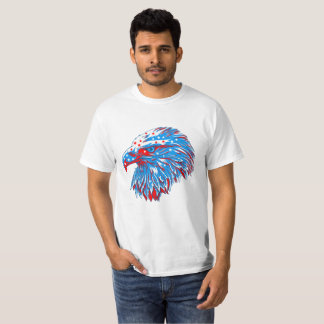 Eagle In The Colors Of The American Flag T-Shirt
