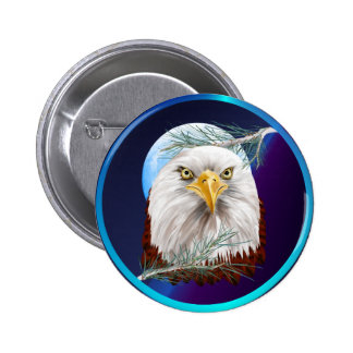 Eagle In The Pines Buttons