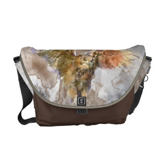 Eagle in watercolor courier bags